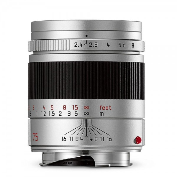 Leica Summarit-M 75mm f/2.4 Silver Anodized Finish